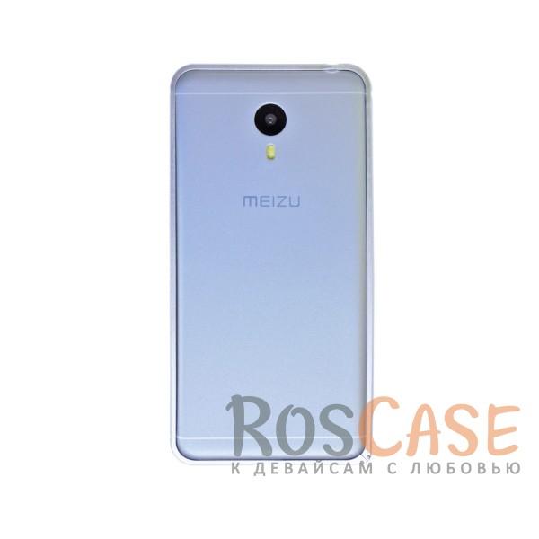 Металлический округлый бампер на пряжке для Meizu M3 Note (Серебряный)<br><br>Тип: Бампер<br>Бренд: Epik