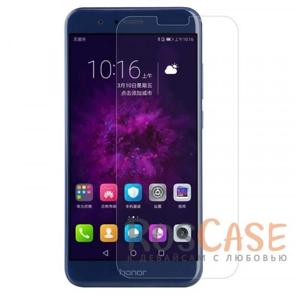 Прозрачная глянцевая защитная пленка на экран с гладким пылеотталкивающим покрытием для Huawei Honor 8 Pro / Honor V9 (Анти-отпечатки)Описание:бренд&amp;nbsp;Nillkin;совместимость - Huawei Honor 8 Pro / Honor V9;материал: полимер;тип: прозрачная пленка;ультратонкая;защита от царапин и потертостей;фильтрует УФ-излучение;размер пленки - 146*67.5&amp;nbsp;мм.<br><br>Тип: Защитная пленка<br>Бренд: Nillkin