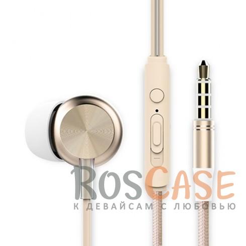 Наушники ROCK Y2 stereo (Золотой / Gold)Описание:производитель  - &amp;nbsp;Rock;тип устройства  -  наушники-вкладыши;совместимость устройства с разъемом mini-jack 3,5 мм.Особенности:длина провода - 120 см;импеданс  -  32 Ом;диапазон частот 20  -  20000 Гц;чувствительность 96&amp;plusmn;3&amp;nbsp;дБ;на проводе расположен пульт управления.<br><br>Тип: Наушники/Гарнитуры<br>Бренд: ROCK