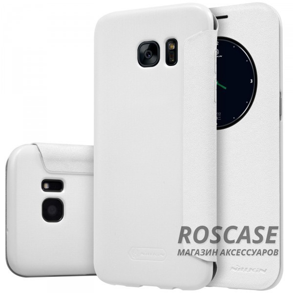 Кожаный чехол (книжка) Nillkin Sparkle Series для Samsung G935F Galaxy S7 Edge (Белый)Описание:бренд -&amp;nbsp;Nillkin;совместим с Samsung G935F Galaxy S7 Edge;материал: кожзам;тип: чехол-книжка.Особенности:защита от механических повреждений;не скользит в руках;интерактивное окошко Smart window;функция Sleep mode;не выгорает;тонкий дизайн.<br><br>Тип: Чехол<br>Бренд: Nillkin<br>Материал: Искусственная кожа