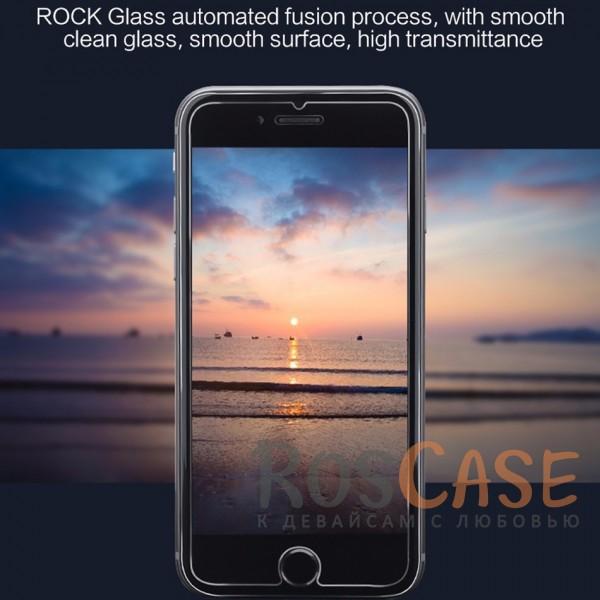 """Фотография Закаленное защитное стекло ROCK на экран с закругленными гранями и олеофобным покрытием """"анти-отпечатки"""" для Apple iPhone 7 / 8 (4.7"""")"""