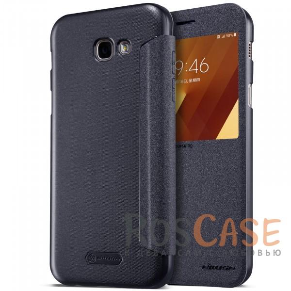 Кожаный чехол (книжка) Nillkin Sparkle Series для Samsung A520 Galaxy A5 (2017) (Черный)Описание:от компании&amp;nbsp;Nillkin;совместим с Samsung A520 Galaxy A5 (2017);материалы: поликарбонат, искусственная кожа;тип: чехол-книжка.<br><br>Тип: Чехол<br>Бренд: Nillkin<br>Материал: Искусственная кожа