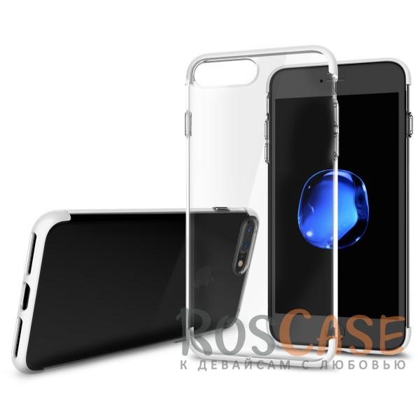 TPU+PC чехол Rock Cheer Series для Apple iPhone 7 plus (5.5) (Белый)Описание:компания&amp;nbsp;Rock;материалы: термополиуретан, поликарбонат;совместимость: Apple iPhone 7 plus (5.5);тип: накладка.<br><br>Тип: Чехол<br>Бренд: ROCK<br>Материал: TPU