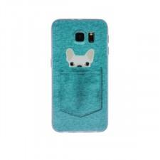 """Тонкий силиконовый чехол с принтом """"Питомцы в кармане"""" для Samsung G930F Galaxy S7"""