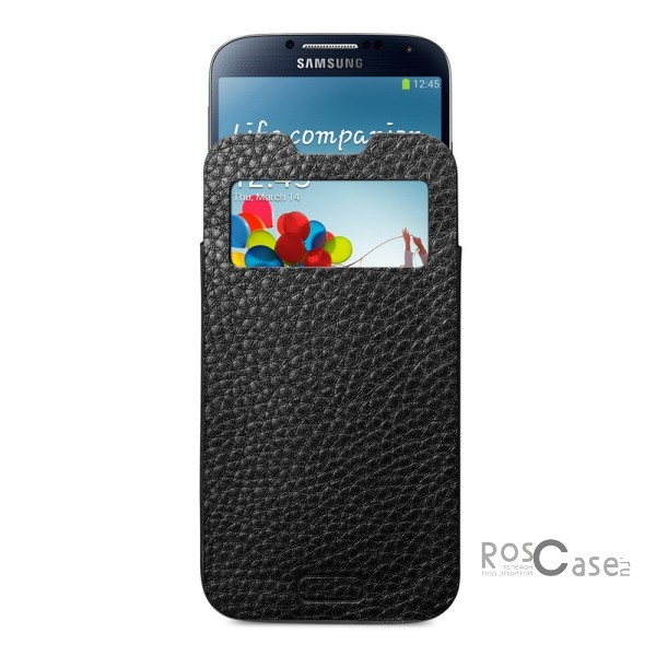 Кожаный футляр SGP Crumena View Series для Samsung Galaxy S4 i9500 - вид спереди