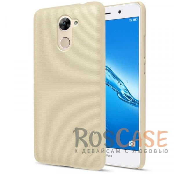 Матовый чехол для Huawei Y7 Prime (+ пленка) (Золотой)Описание:бренд&amp;nbsp;Nillkin;совместимость: Huawei Y7 Prime;материал: поликарбонат;тип: накладка;закрывает заднюю панель и боковые грани;защищает от ударов и царапин;рельефная фактура;не скользит в руках;ультратонкий дизайн;защитная плёнка на экран в комплекте.<br><br>Тип: Чехол<br>Бренд: Nillkin<br>Материал: Поликарбонат