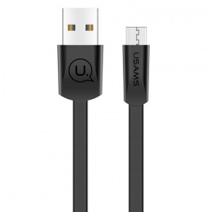 USAMS US-SJ201 | Плоский дата кабель USB to MicroUSB (120 см) для Samsung Galaxy S9 Plus (G965F)