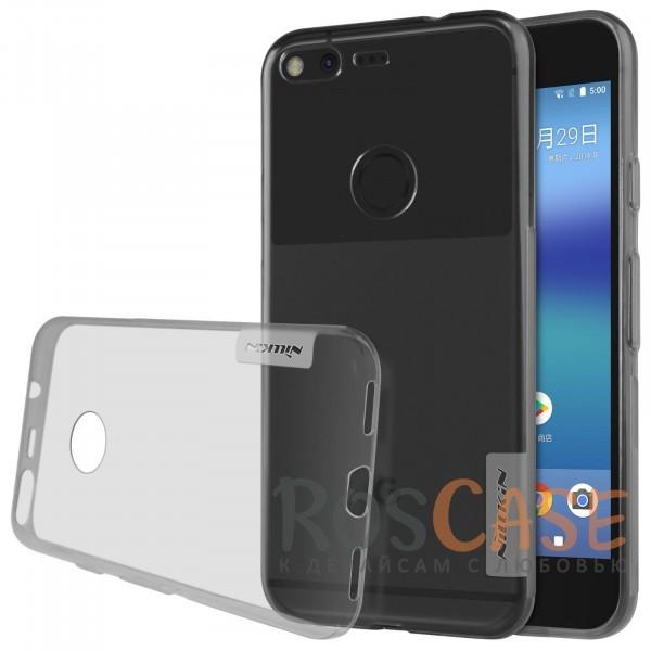 Мягкий прозрачный силиконовый чехол для Google Pixel (Серый (прозрачный))Описание:бренд:&amp;nbsp;Nillkin;совместимость: Google Pixel;материал: термополиуретан;тип: накладка;ультратонкий дизайн;прозрачный корпус;не скользит в руках;защищает от механических повреждений.<br><br>Тип: Чехол<br>Бренд: Nillkin<br>Материал: TPU