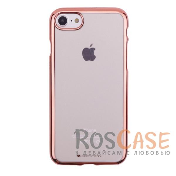 Прозрачный силиконовый чехол с блестящим бампером Mercury Ring 2 Jelly для Apple iPhone 7 / 8 (4.7) (Rose Gold)Описание:бренд&amp;nbsp;Mercury;разработан для Apple iPhone 7 / 8 (4.7);материал - термополиуретан;тип - накладка.&amp;nbsp;Особенности:прозрачный;ультратонкий;блестящая окантовка;защищает от царапин и ударов;не скользит в руках.<br><br>Тип: Чехол<br>Бренд: Mercury<br>Материал: TPU
