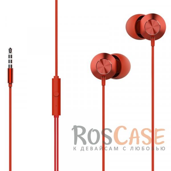 Наушники ROCK Mufree (Stereo) (Красный / Red)Описание:производитель  - &amp;nbsp;Rock;тип  -  наушники;материалы - алюминий, силикон;разъем  -  3,5 mini jack;длина провода - 120 см;диапазон частот 20  -  20000 Гц;сопротивление  -  32 Ом;чувствительность 96&amp;plusmn;3&amp;nbsp;дБ;максимальная мощность - 5 мВт;на проводе расположен пульт управления и микрофон.<br><br>Тип: Наушники/Гарнитуры<br>Бренд: ROCK
