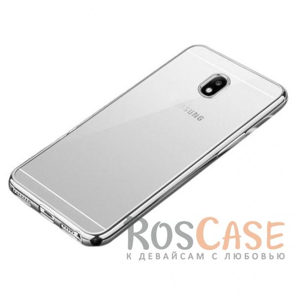 Прозрачный силиконовый чехол для Samsung J330 Galaxy J3 (2017) с глянцевой окантовкой (Серебряный)Описание:совместимость -&amp;nbsp;Samsung J330 Galaxy J3 (2017);глянцевая окантовка;материал - TPU;тип - накладка;защита от царапин, трещин, сколов;защита камеры;не заметны отпечатки пальцев;ульратонкий дизайн;все необходимые функциональные вырезы.<br><br>Тип: Чехол<br>Бренд: Epik<br>Материал: TPU