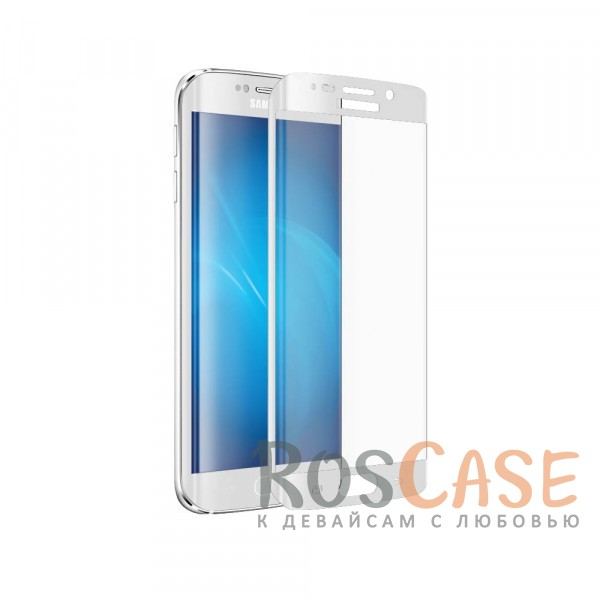 Защитное стекло 3D CaseGuru Tempered Glass для Samsung G925F Galaxy S6 Edge (Белое)<br><br>Тип: Защитное стекло<br>Бренд: CaseGuru