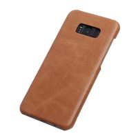 Тонкий чехол для Samsung G955 Galaxy S8 Plus из натуральной кожи