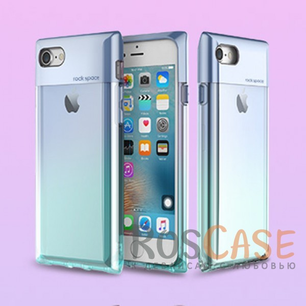 Rock Crystal | Чехол для Apple iPhone 7 / 8 (4.7) в виде флакона духов с градиентной расцветкой (Синий / Transparent Blue)Описание:бренд&amp;nbsp;Rock;совместимость:&amp;nbsp;Apple iPhone 7 / 8 (4.7);материал: термополиуретан и поликарбонат;вид: накладка.<br><br>Тип: Чехол<br>Бренд: ROCK<br>Материал: TPU
