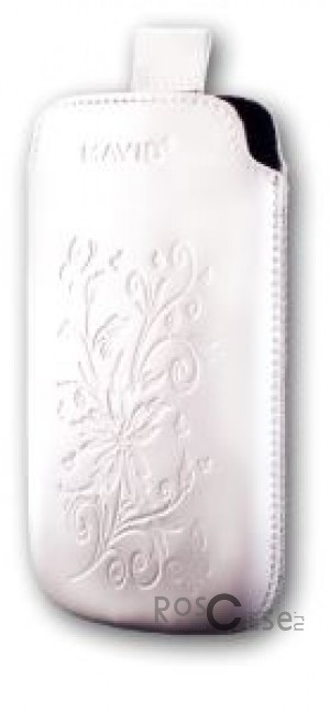 фото кожаный футляр Mavis Premium FLOWER 103x61.5 для E405/E400/E435/E425