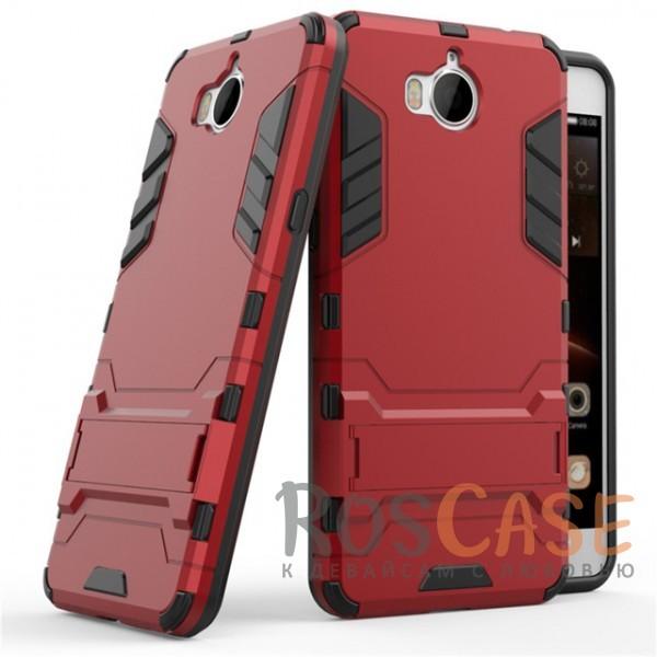 Ударопрочный чехол-подставка Transformer для Huawei Y5 (2017) с мощной защитой корпуса (Красный / Dante Red)Описание:чехол разработан для Huawei Y5 (2017);материалы - термополиуретан, поликарбонат;тип - накладка;функция подставки;защита от ударов;прочная конструкция;не скользит в руках.<br><br>Тип: Чехол<br>Бренд: Epik<br>Материал: Пластик