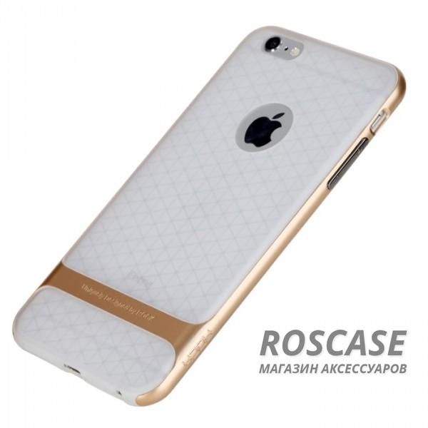 TPU+PC чехол Rock Royce (Transparent) Series для Apple iPhone 6/6s (4.7) (Золотой / Gold)Описание:фирма-производитель  - &amp;nbsp;Rock;совместимость - Apple iPhone 6/6s (4.7);материалы  -  полиуретан, поликарбонат;тип  -  накладка.&amp;nbsp;Особенности:пластичный;имеет все необходимые вырезы;легко чистится;не увеличивает габариты;защищает от ударов и падений;износостойкий.<br><br>Тип: Чехол<br>Бренд: ROCK<br>Материал: TPU
