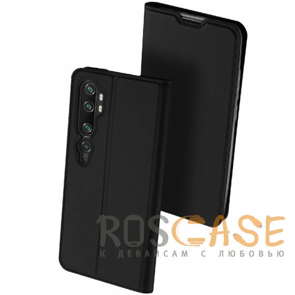 Фото Черный Dux Ducis   Чехол-книжка для Xiaomi Mi 10 (Pro) с функцией подставки и картхолдером