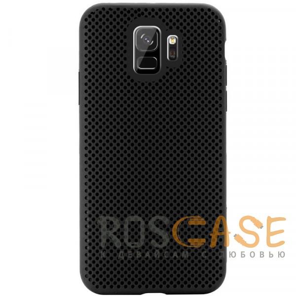 Фото Черный Air Color Slim | Силиконовый чехол для Samsung Galaxy S9 с перфорацией