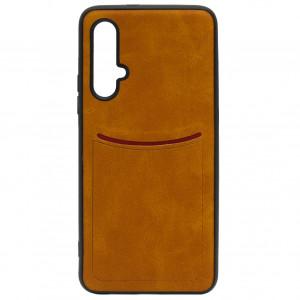 ILEVEL | Чехол с кожаным покрытием и карманом  для Huawei Nova 5T