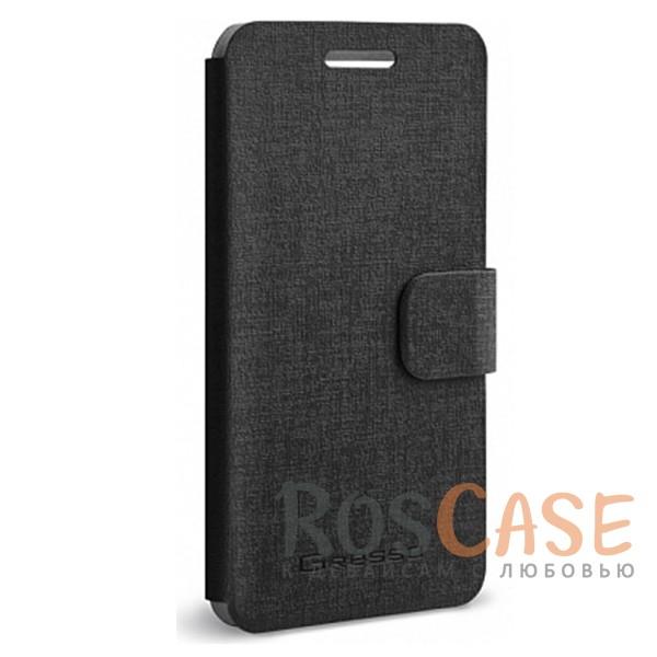 Универсальный чехол-книжка Gresso Канцлер для смартфона 3.5-4.5 дюйма (Черный)<br><br>Тип: Чехол<br>Бренд: Gresso<br>Материал: Искусственная кожа