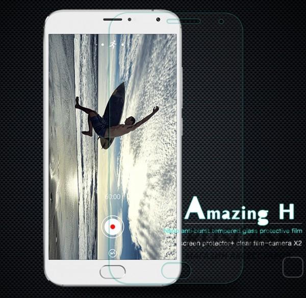 Защитное стекло Nillkin Anti-Explosion Glass Screen (H) для Meizu MX5Описание:компания&amp;nbsp;Nillkin;создано для Meizu MX5;материал: закаленное стекло;тип: защитное стекло.&amp;nbsp;Особенности:повторяет форму экрана;тонкое и прозрачное;покрытие анти-блик;твердость - 9H;толщина - &amp;nbsp;0,3 мм;защита от ударов и царапин;олеофобное покрытие;в комплекте пленка на камеру.<br><br>Тип: Защитное стекло<br>Бренд: Nillkin