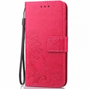 Кожаный чехол (книжка) Four-leaf Clover с визитницей для Xiaomi Mi 9T / Mi 9T Pro (Redmi K20 / K20 Pro)