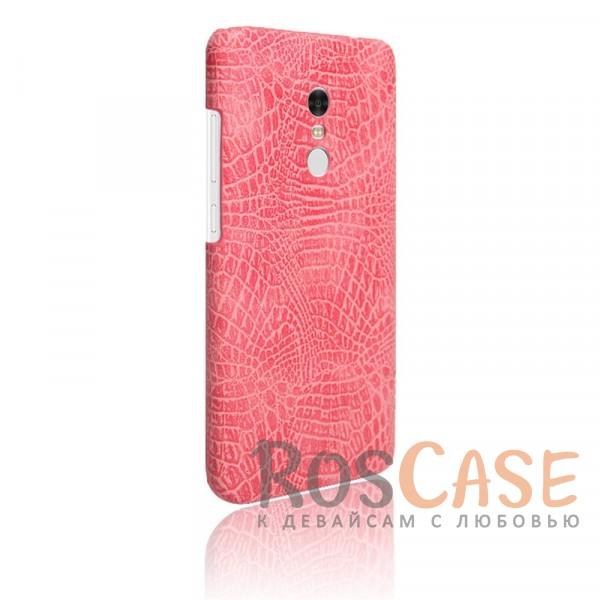 Кожаный чехол с узором из крокодиловой кожи Croc Series для Xiaomi Redmi Note 4 (Розовый)<br><br>Тип: Чехол<br>Бренд: Epik<br>Материал: Искусственная кожа