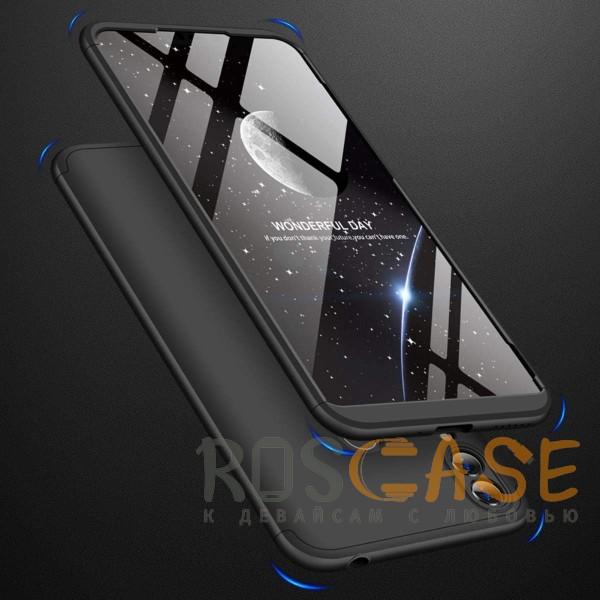 Изображение Черный GKK LikGus 360° | Двухсторонний чехол для Huawei Honor 8C с защитными вставками
