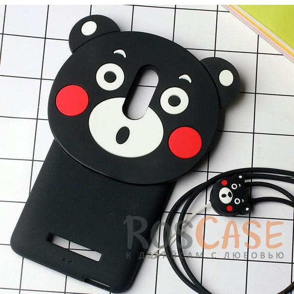 Силиконовый чехол со шнурком Funny Buddy для Xiaomi Redmi Note 3 / Redmi Note 3 Pro (Медведь)<br><br>Тип: Чехол<br>Бренд: Epik<br>Материал: Силикон