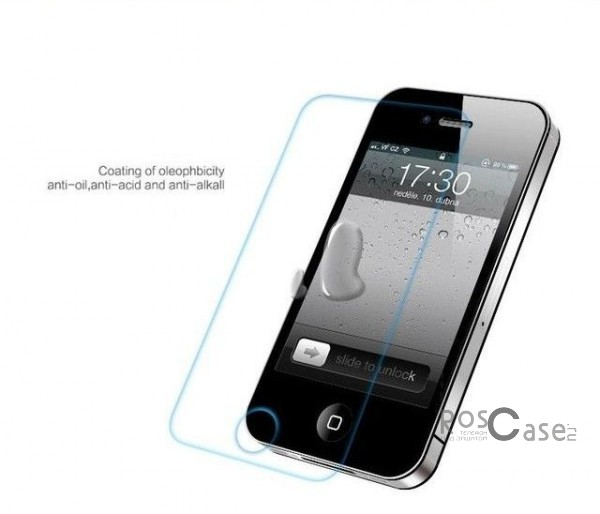фото защитное стекло Premium Tempered Glass 0.33mm (2.5D) для Apple iPhone 4/4S