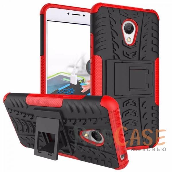 Противоударный двухслойный чехол Shield для Meizu M3 / M3 mini / M3s с подставкой (Красный)Описание:разработан для Meizu M3 / M3 mini / M3s;материалы: поликарбонат, термополиуретан;тип: накладка.&amp;nbsp;Особенности:двухслойный;ударопрочный;оригинальный дизайн;стильный дизайн;в наличии все функциональные вырезы;функция подставки.<br><br>Тип: Чехол<br>Бренд: Epik<br>Материал: TPU