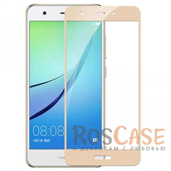 Тонкое олеофобное защитное стекло с цветной рамкой на весь экран для Huawei Nova 2 (Золотой)Описание:разработано для Huawei Nova 2;защита экрана от ударов и царапин;олеофобное покрытие анти-отпечатки;ультратонкое;высокая прочность 9H;полностью закрывает экран;цветная рамка.<br><br>Тип: Защитное стекло<br>Бренд: Mocolo
