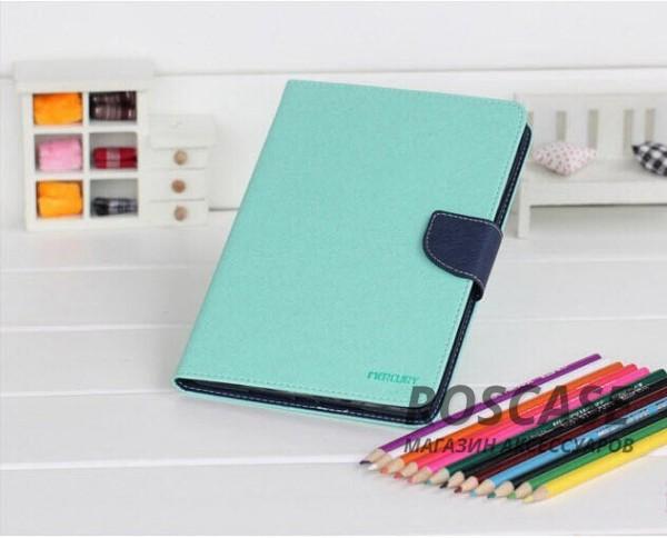 Чехол (книжка) Mercury Fancy Diary series для Samsung Galaxy Tab S2 9.7 (Бирюзовый / Синий)Описание:производитель  -  бренд&amp;nbsp;Mercury;совместим с Samsung Galaxy Tab S2 9.7;материалы  -  искусственная кожа, термополиуретан;форма  -  чехол-книжка.&amp;nbsp;Особенности:рельефная поверхность;все функциональные вырезы в наличии;внутренние кармашки;магнитная застежка;защита от механических повреждений;трансформируется в подставку.<br><br>Тип: Чехол<br>Бренд: Mercury<br>Материал: Искусственная кожа