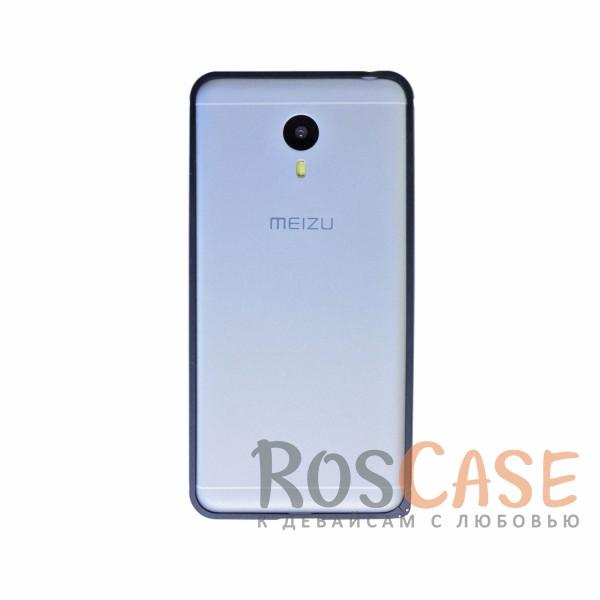 Металлический округлый бампер на пряжке для Meizu M3 Note (Черный)<br><br>Тип: Бампер<br>Бренд: Epik