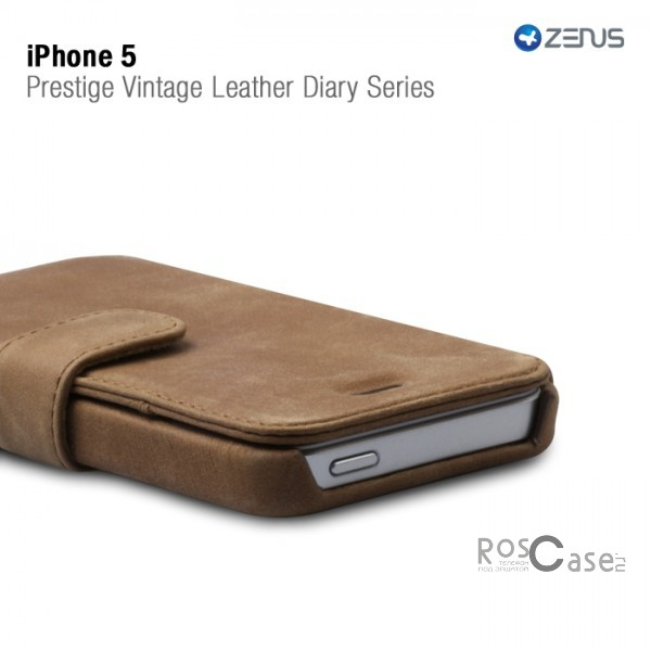 Кожаный чехол Zenus Vintage Leather Diary Series для iPhone 5