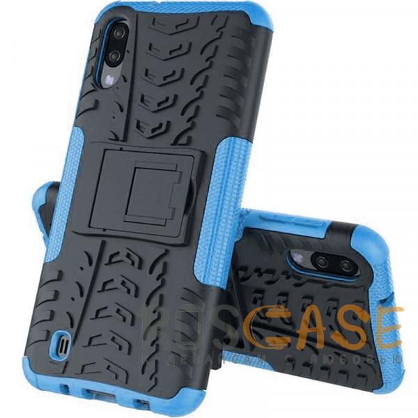 Фото Синий Shield | Противоударный чехол для Galaxy A20 / A30 / A50 с подставкой