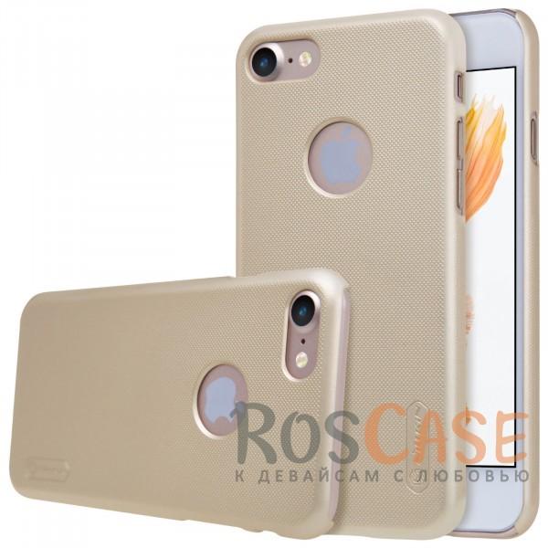 Чехол Nillkin Matte для Apple iPhone 7 (4.7) (+ пленка) (Золотой)Описание:бренд&amp;nbsp;Nillkin;спроектирована для&amp;nbsp;Apple iPhone 7 (4.7);материал - поликарбонат;тип - накладка.Особенности:фактурная поверхность;защита от ударов и царапин;тонкий дизайн;наличие функциональных вырезов;пленка на экран в комплекте.<br><br>Тип: Чехол<br>Бренд: Nillkin<br>Материал: Поликарбонат