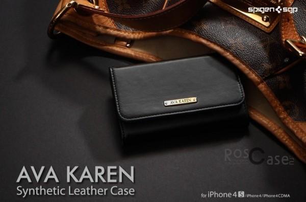Кожаный чехол SGP Ava Karen для Apple iPhone 4/4S