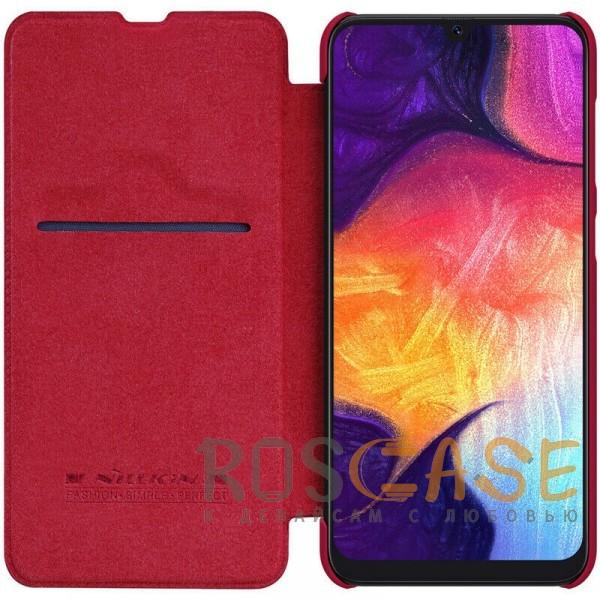 Фотография Красный Nillkin Qin натур. кожа   Чехол-книжка для Samsung A505F Galaxy A50