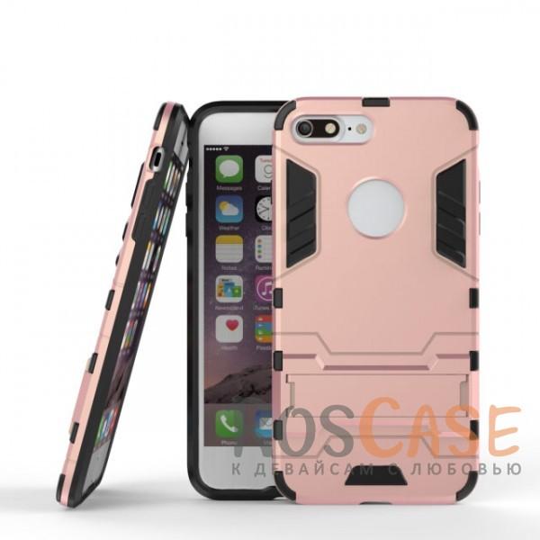 Ударопрочный чехол-подставка Transformer для Apple iPhone 7 plus / 8 plus (5.5) с мощной защитой корпуса (Розовый / Rose Gold)Описание:подходит для Apple iPhone 7 plus / 8 plus (5.5);материалы: термополиуретан, поликарбонат;формат: накладка.&amp;nbsp;Особенности:функциональные вырезы;функция подставки;двойная степень защиты;защита от механических повреждений;не скользит в руках.<br><br>Тип: Чехол<br>Бренд: Epik<br>Материал: TPU