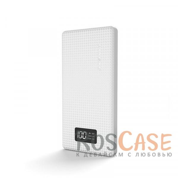 Изображение Белый Портативное зарядное устройство в противоударном корпусе с ЖК дисплеем 10000mAh (2 USB)