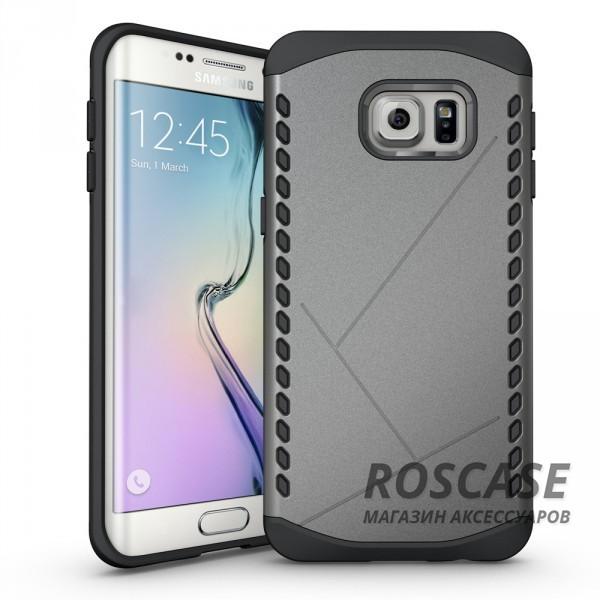 Противоударный защитный чехол Armor для Samsung Galaxy S6 Edge с усиленным прорезиненным бампером (Серый)Описание:идеально совместим с&amp;nbsp;Samsung G925F Galaxy S6 Edge;материалы: термополиуретан, поликарбонат;формат: накладка.Особенности:защита от ударов;двойной корпус;не скользит в руках;усиленный бампер;присутствуют все необходимые вырезы.<br><br>Тип: Чехол<br>Бренд: Epik<br>Материал: TPU