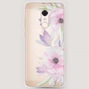 RosCase | Силиконовый чехол Нежные анемоны на Xiaomi Redmi 5 Plus / Redmi Note 5 (Single Camera)