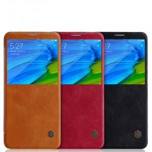 Nillkin Qin натур. кожа | Чехол-книжка для Xiaomi Redmi Note 5 Pro / Note 5 (AI Dual Camera)