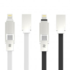 ROCK M7 Metal | Кабель Lightning / MicroUSB Combo 100cm (5V/2.1A) для Apple iPad 2/3/4