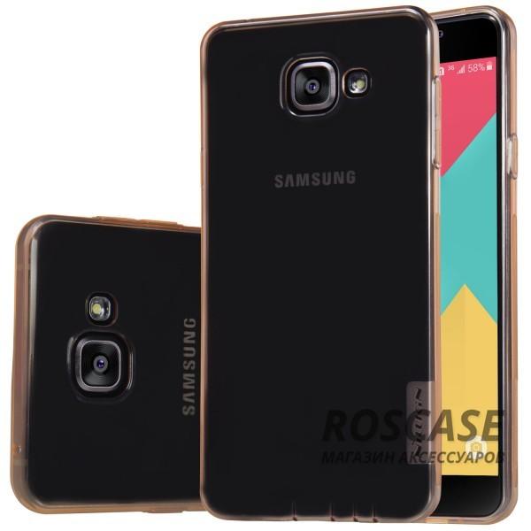 TPU чехол Nillkin Nature Series для Samsung A510F Galaxy A5 (2016) (Золотой (прозрачный))Описание:производитель  -  бренд&amp;nbsp;Nillkin;совместим с Samsung A510F Galaxy A5 (2016);материал  -  термополиуретан;тип  -  накладка.&amp;nbsp;Особенности:в наличии все вырезы;не скользит в руках;тонкий дизайн;защита от ударов и царапин;прозрачный.<br><br>Тип: Чехол<br>Бренд: Nillkin<br>Материал: TPU