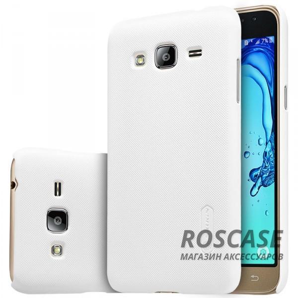 Матовый чехол для Samsung J320F Galaxy J3 (2016) (+ пленка) (Белый)Описание:производитель -&amp;nbsp;Nillkin;материал - поликарбонат;совместим с Samsung J320F Galaxy J3 (2016);тип - накладка.&amp;nbsp;Особенности:матовый;прочный;тонкий дизайн;не скользит в руках;не выцветает;пленка в комплекте.<br><br>Тип: Чехол<br>Бренд: Nillkin<br>Материал: Пластик