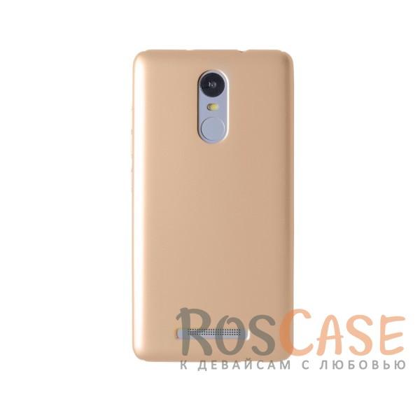 Пластиковая накладка soft-touch с защитой торцов Joyroom для Xiaomi Redmi Note 3/Redmi Note 3 Pro (Золотой)<br><br>Тип: Чехол<br>Бренд: Epik<br>Материал: Пластик