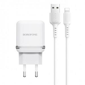 СЗУ Borofone BA25A (2USB / 2.4A) + кабель Lightning 1м для Apple iPhone 7 Plus